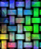Beautiful abstract weaved colourful texture Stock Photos