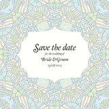 Beautiful abstract wedding invitation Royalty Free Stock Images