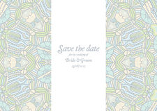 Beautiful abstract wedding invitation Royalty Free Stock Photography