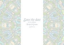 Beautiful abstract wedding invitation. Vector illustration Royalty Free Stock Photography