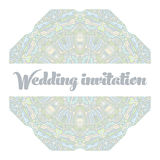 Beautiful abstract wedding invitation Stock Image