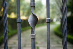 Beautiful abstract wrought iron gate Stock Photography