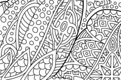 Beautiful abstract zen art for coloring book pages stock photos