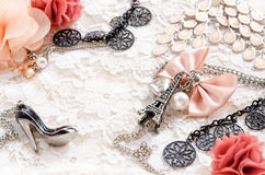 Beautiful accessories Royalty Free Stock Images