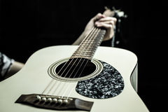 Beautiful acoustic guitar Stock Images