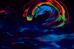 Colorful abstract acrylic background. Beautiful acrylic image which you can use as abstract background for your sites Stock Photography