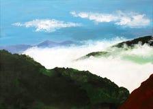 Beautiful acrylic painting of Pangong lake Stock Image