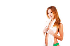 Beautiful adorable topless girl Stock Photo