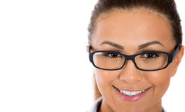 Beautiful, adorable woman wearing glasses Royalty Free Stock Photos