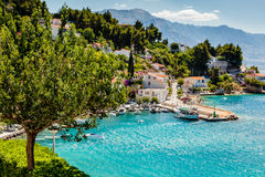 Beautiful Adriatic Bay and the Village Stock Photography