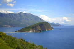 Beautiful Adriatic sea coast view,Montenegro Royalty Free Stock Photos