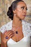 Beautiful Adult Bride In Wedding Gown Royalty Free Stock Photos