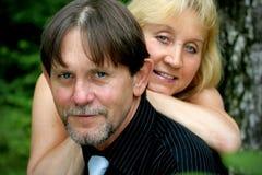 Beautiful adult couple portrait Stock Photo