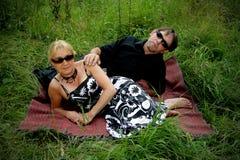 Beautiful adult couple portrait Stock Photos