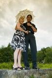 Beautiful adult couple portrait Stock Images