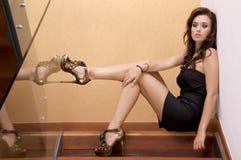 Beautiful adult sensuality woman. Portrait of a beautiful adult sensuality brunette woman Stock Photo