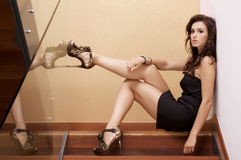 Beautiful adult sensuality woman Royalty Free Stock Images