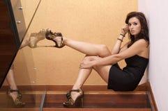 Beautiful adult sensuality woman. Portrait of a beautiful adult sensuality brunette woman Stock Image