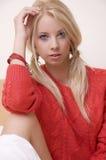 Beautiful adult sensuality woman. Portrait of a beautiful adult sensuality blonde woman Royalty Free Stock Photo