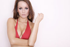 Beautiful adult sensuality woman Stock Image