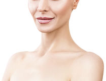 Beautiful adult woman with perfect skin. Royalty Free Stock Photos