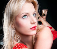 Beautiful Adult Woman With Green Eyes Royalty Free Stock Photo