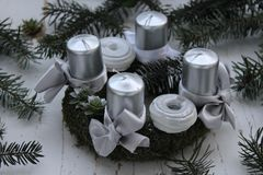 Beautiful Advent wreath Royalty Free Stock Images