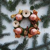 Beautiful Advent wreath Stock Photography