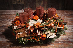 Beautiful advent wreath Royalty Free Stock Image