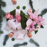 Beautiful Advent wreath Royalty Free Stock Photos