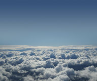 A beautiful blue sky background with white clouds Stock Photo