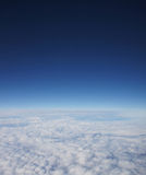 A beautiful aerial background of the deep blue sky stock images