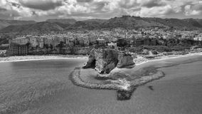 Beautiful aerial coast of Calabria in summer, Italy Stock Photos