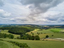 Beautiful aerial country side view around Chichester royalty free stock photo