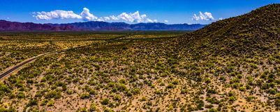 Beautiful Aerial Landscape Of The Open Land West Of Congress, Arizona royalty free stock photo
