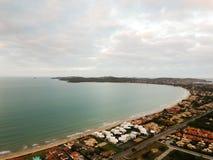 Drone view of Praia Rasa, Buzios, Brazil stock photography