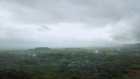 Beautiful aerial landscape around Borobudur Temple stock footage