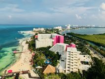 Cancun, Quintana Roo Mexico Landscape from the Xcaret Tower Royalty Free Stock Image