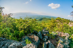 Beautiful aerial landscape views from crowders mountain near gas Stock Image