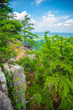 Beautiful aerial landscape views from crowders mountain north ca royalty free stock image