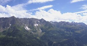 Beautiful aerial panorama of the swiss alps stock video footage