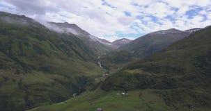 Beautiful aerial panorama of the swiss alps stock video