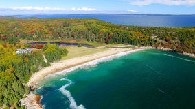 Beautiful aerial panoramic view of Acadia National Park in Maine Royalty Free Stock Image