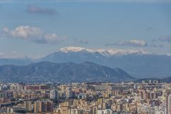 Aerial view of the city of Malaga Spain royalty free stock photos