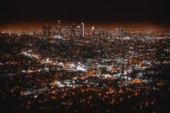 Beautiful aerial shot of Los Angeles stock images