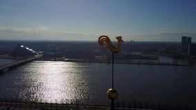 Aerial View of Riga, Latvia stock video footage