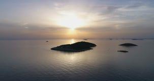 Beautiful aerial video of Adriatic Sea in Dalmatia, Croatia stock footage