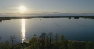 Beautiful aerial video of Katrineholm, Sweden, Scandinavia stock video footage