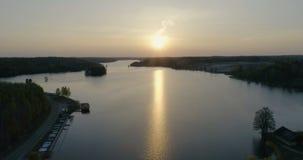 Beautiful aerial video of Katrineholm, Sweden, Scandinavia stock footage