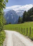 Beautiful aerial view on Alpine mountains. Austria Bad Gastein Royalty Free Stock Image